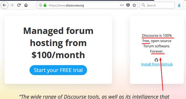 Mesin Forum Komunitas Bahasa Discourse.org Gratis Selamanya